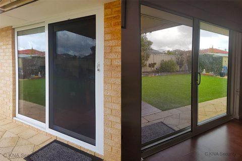 Security door to double glazed door