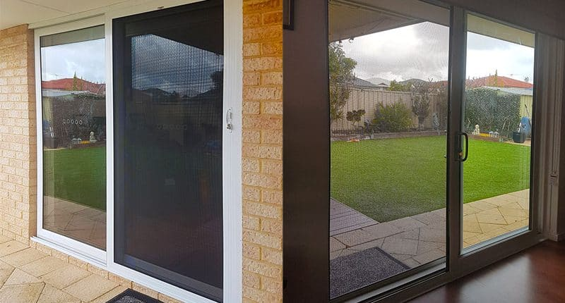 Security door to double glazed door