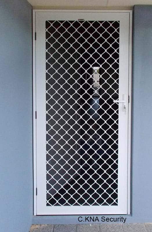 Grille hinged door
