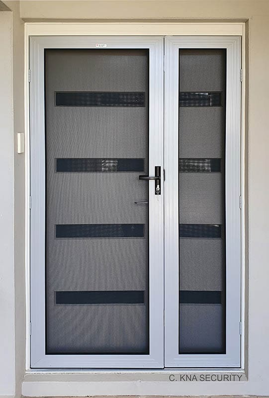 Double mesh security door