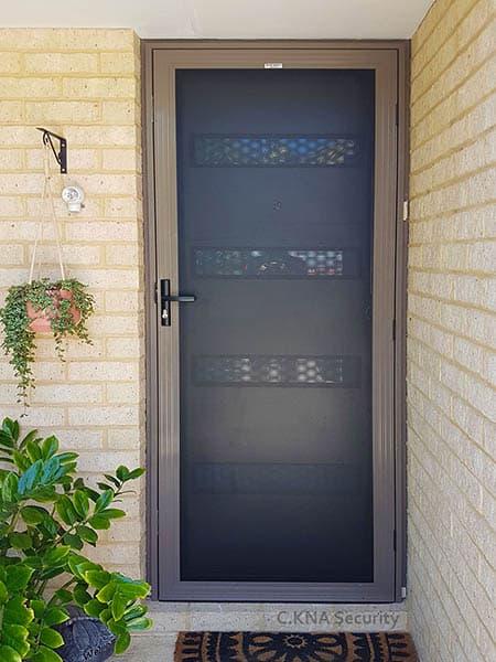 single hinged security screen door