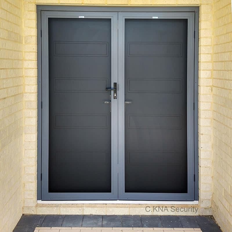 Front security screen door installed in Perth