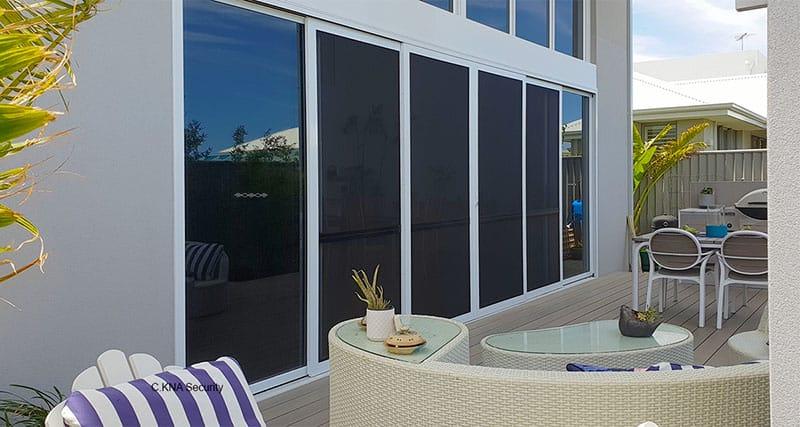 sliding four panel staking screen doors